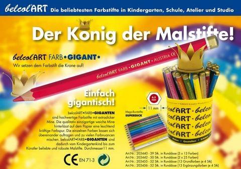 belcolART Holzbuntstifte GIGANT